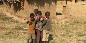 Kids in DRC where B Medical Systems installed vaccine cold chain equipment