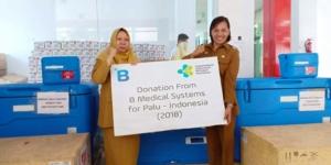 Donation of solar vaccine refrigerators to Palu Indonesia