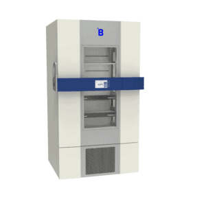 Blood bank refrigerator B901 side with door closed