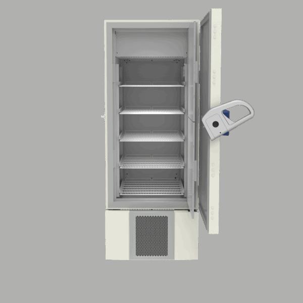 Plasma storage freezer F501 front with door open