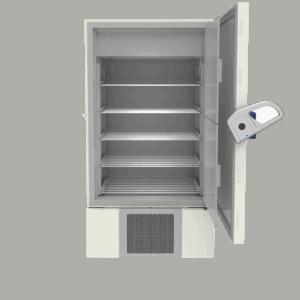 Laboratory freezer F900 front with door open