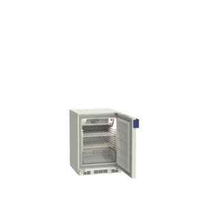 Lab refrigerator L130 side with door open