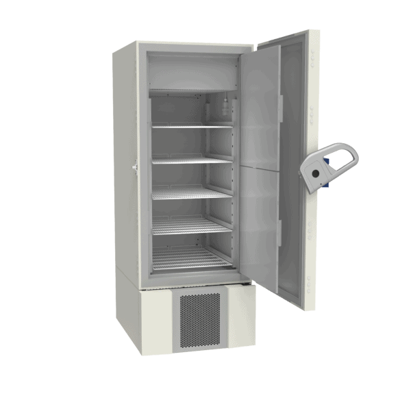 Lab refrigerator L500 side with door open