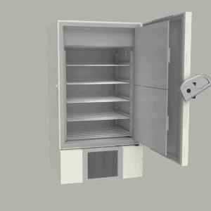 Laboratory refrigerator L900 side with door open