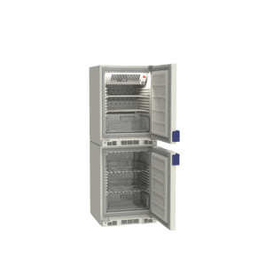 Combined lab refrigerator and freezer LF260 side with door open