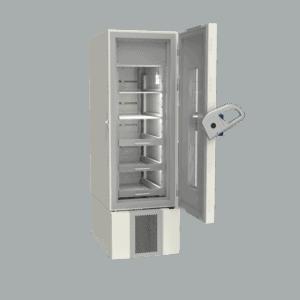 Pharmacy refrigerator P400 side with door open