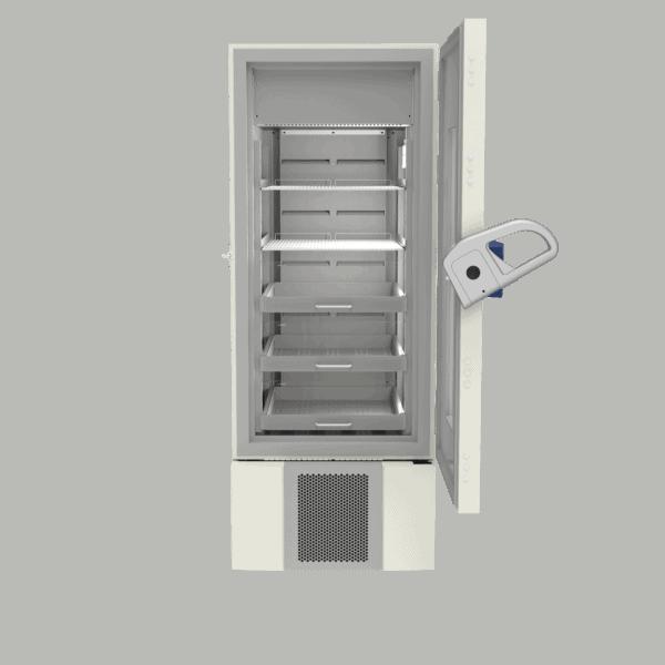 Pharmacy refrigerator P500 front with door open