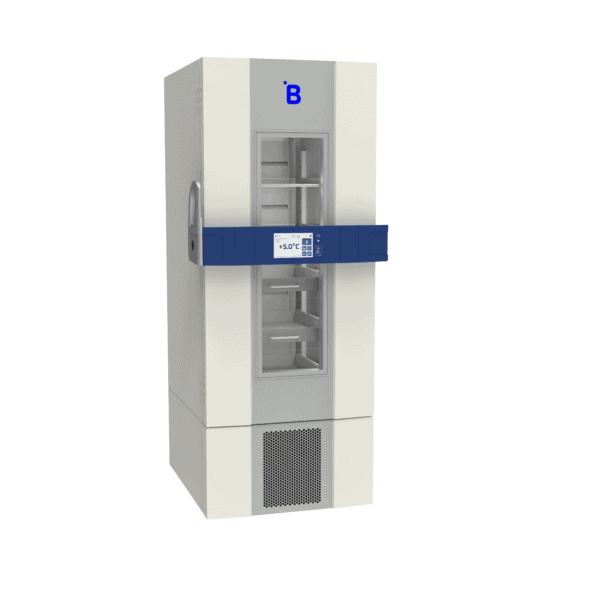 Pharmaceutical refrigerator P500 side with door closed