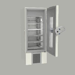 Pharmacy refrigerator P500 side with door open