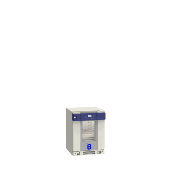 Pharmaceutical refrigerator P55 side with door closed