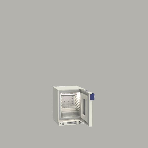 Pharmacy refrigerator P55 side with door open