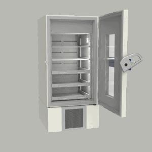 Pharmacy refrigerator P700 side with door open