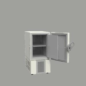 Ultra-low temperature freezer U201 side with door open