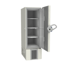 Ultra-low temperature freezer U401 side with door open