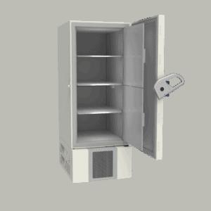 Ultra-low temperature freezer U501 side with door open