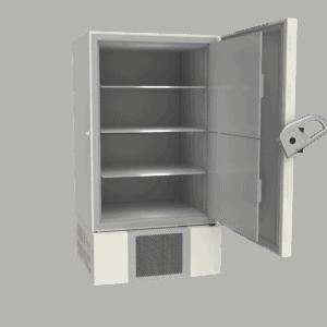 Ultra-low temperature freezer U901 side with door open