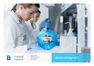 Woman doing medical research using medical refrigeration products