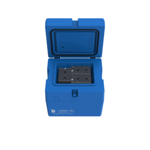 Medical transport box MT12 with top open