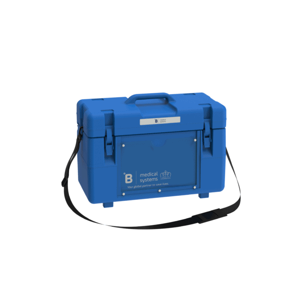 Medical transport box MT8 side with top closed