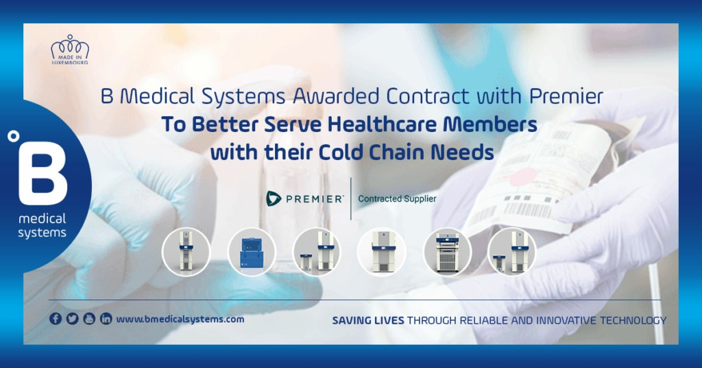 B Medical Systems awarded contact with Premier to better serve healthcare members with their cold chain needs