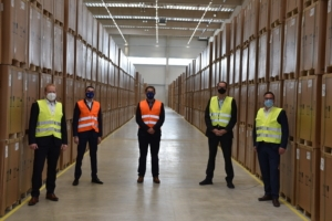 Team visiting Kuehne and Nagel Warehouse