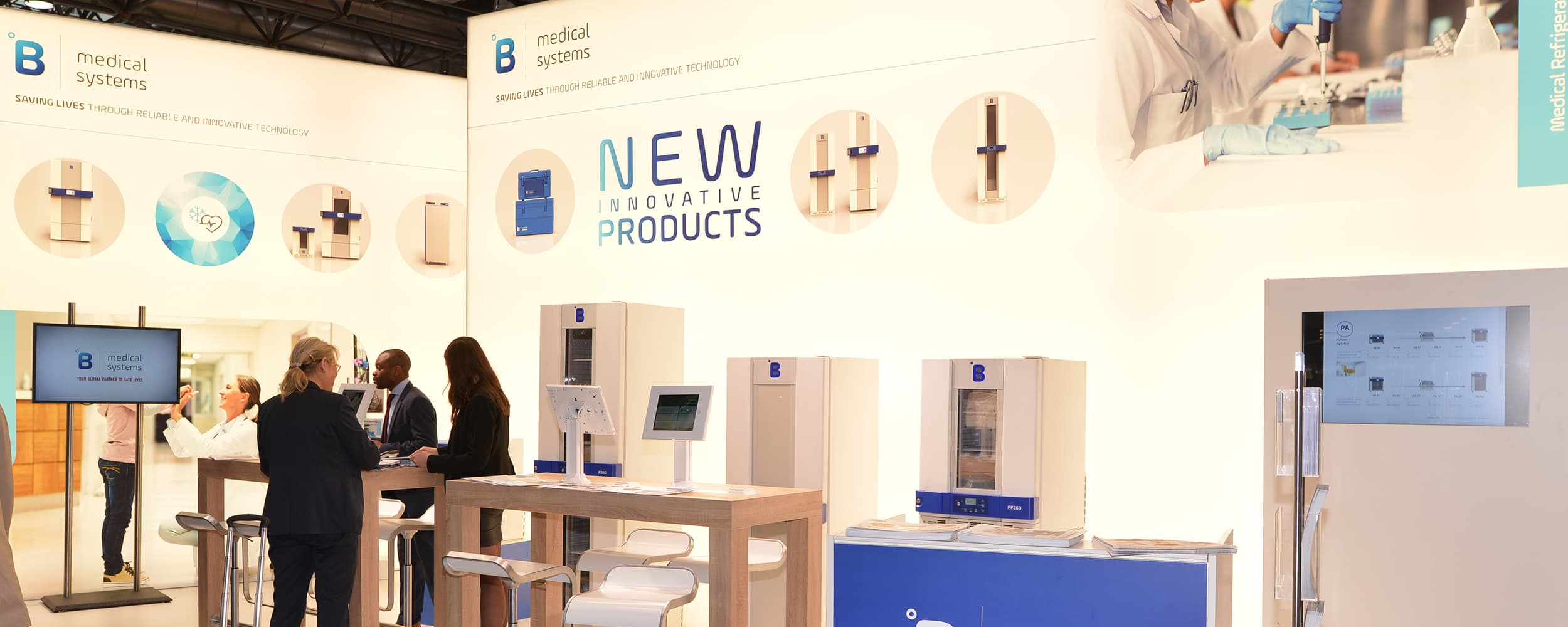 B Medical Systems booth at Analytica