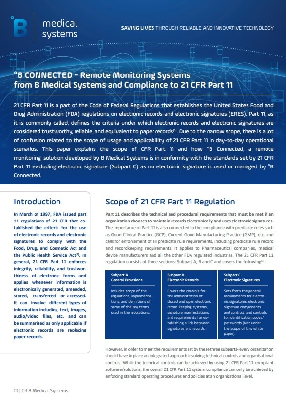 FDA 21 CFR Part 11: Applicability to Temperature Monitoring Systems