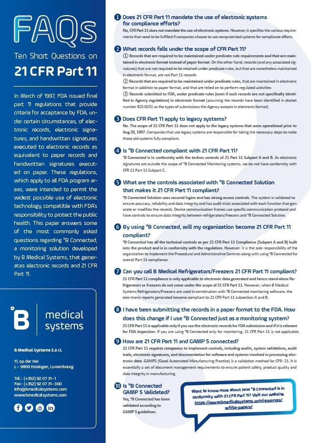 FDA 21 CFR Part 11: FAQs