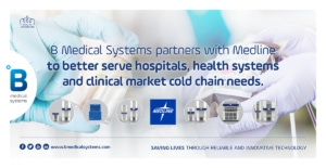 B Medical Systems partners with Medline to better serve hospital, health system, and clinical market cold chain needs